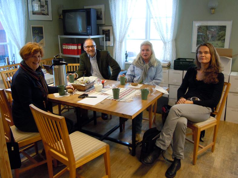 Här möts en styrgrupp på Ekomuseums kansli i Ludvika.