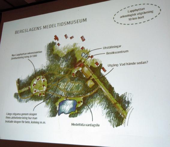 Medeltidsmuseum planeras på Nya Lapphyttan i Norberg, PowerPoint-bild.
