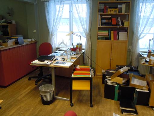 Och här är min arbetsplats i normala fall.