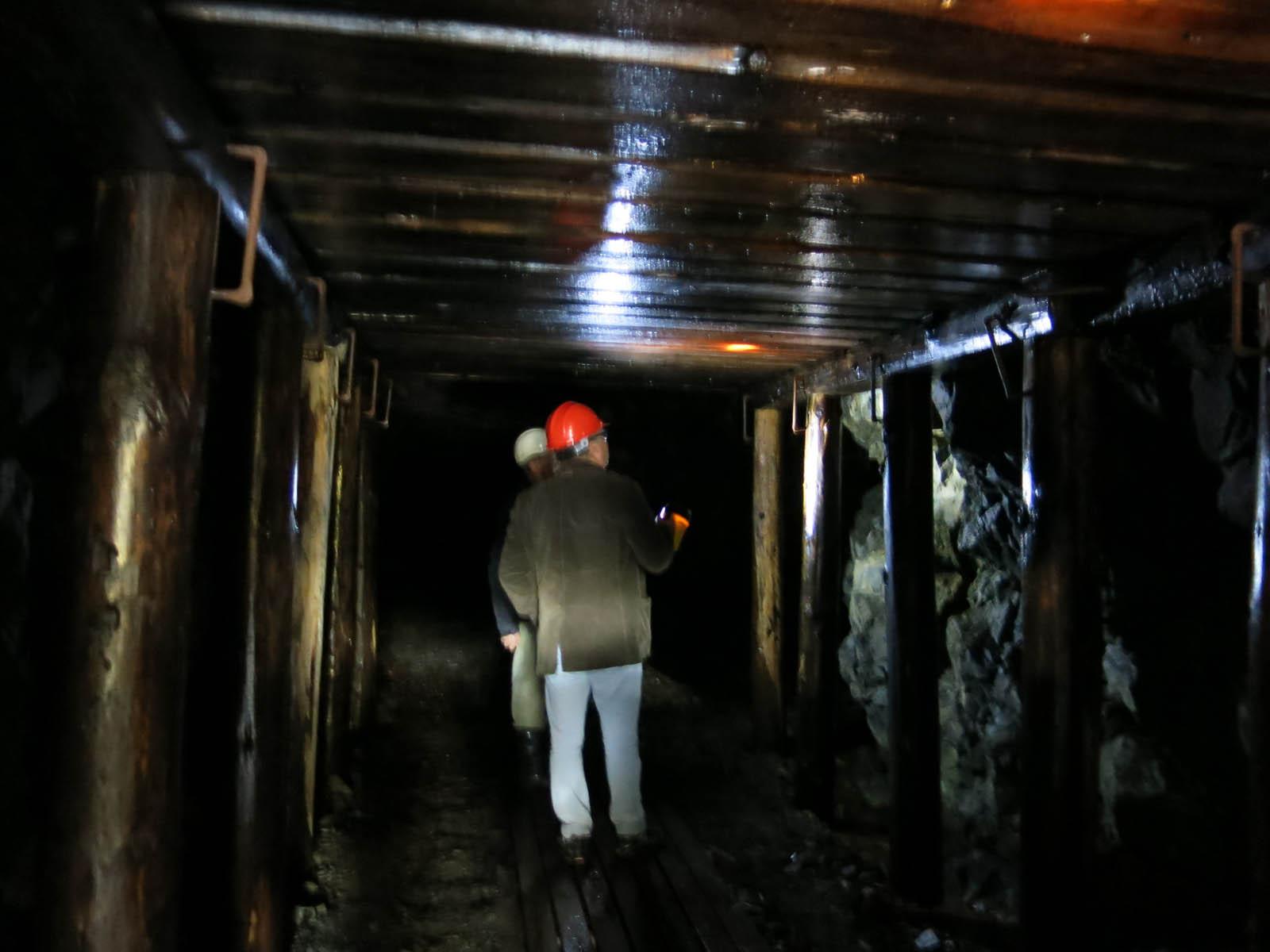 På väg in i gruvorten i Bastnäs