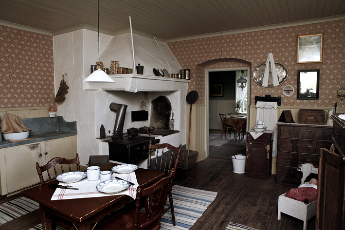 Kök i museibostaden Hammarbacken