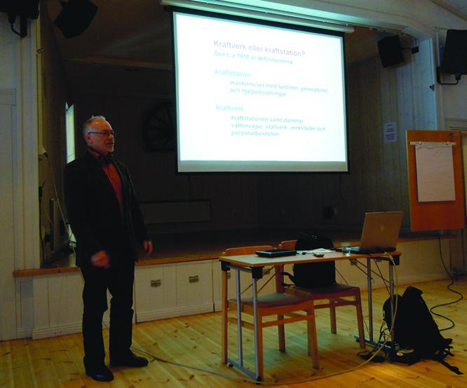 Per Stymne berättar om kraftverkens form och arkitektur på Bergslagstinget 2010.