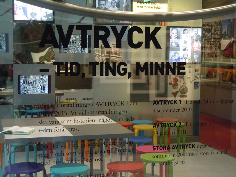 Länsmuseets utställning Avtryck – Tid, Ting, Minne bygger på en samverkan med länets invånare och besökarna på museet. Foto Ch Lindeqvist.