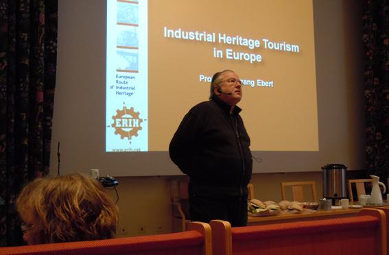 Professor Dr Wolfgang Ebert från Ruhr, Route Industriekultur.