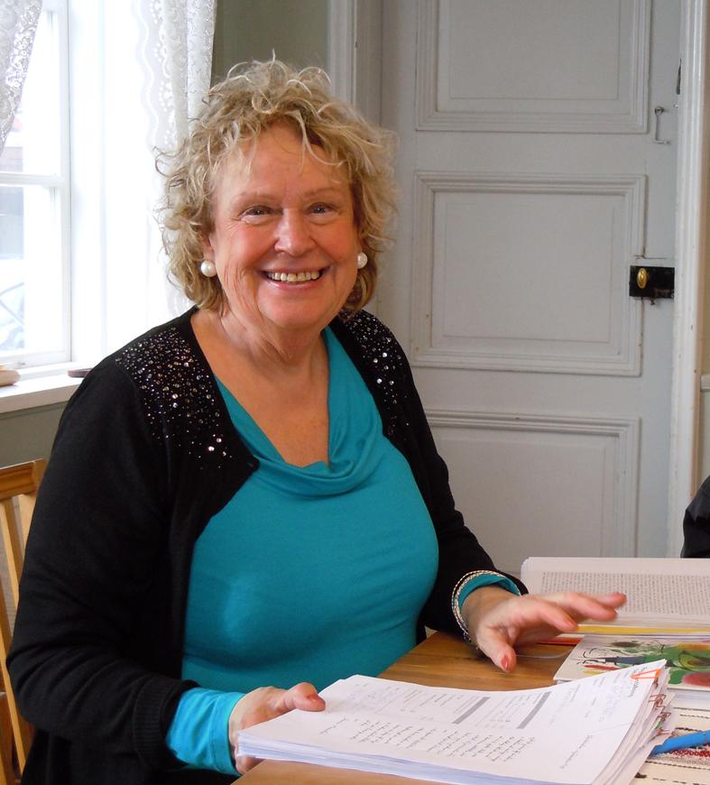 Yvonne Gröning besöker ibland Ekomuseums kansli i Ludvika och så planerar vi diverse föredrag och skrifter.