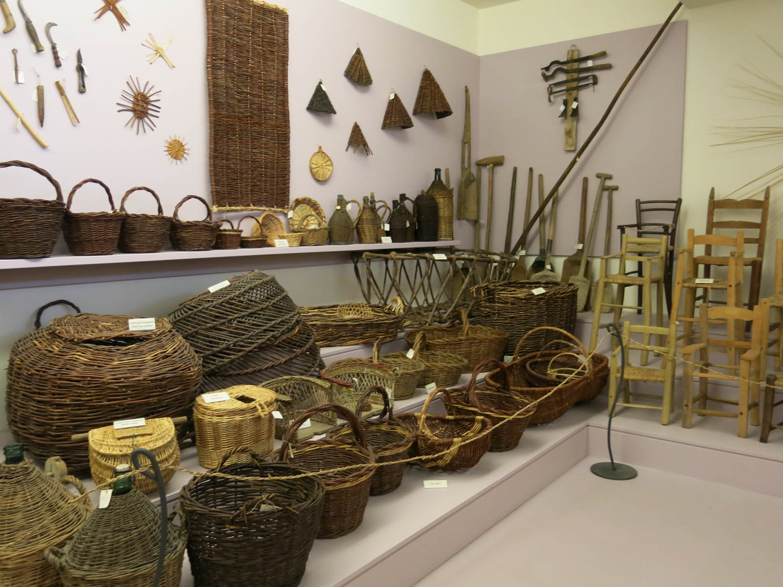 Korgar på museet erbe palustri