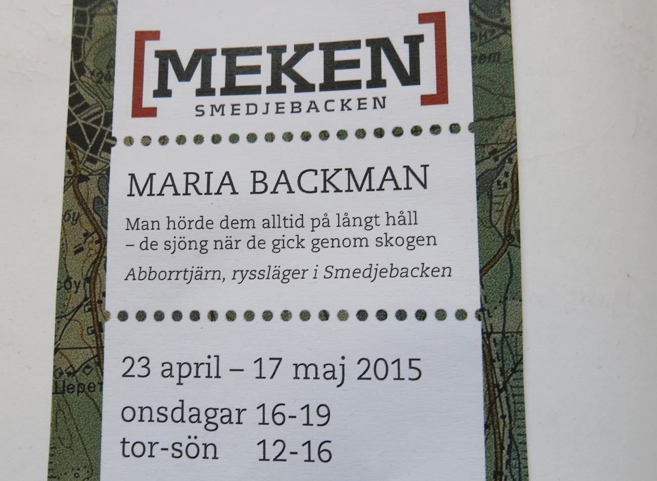MAria Backmans utställning i MEKEN
